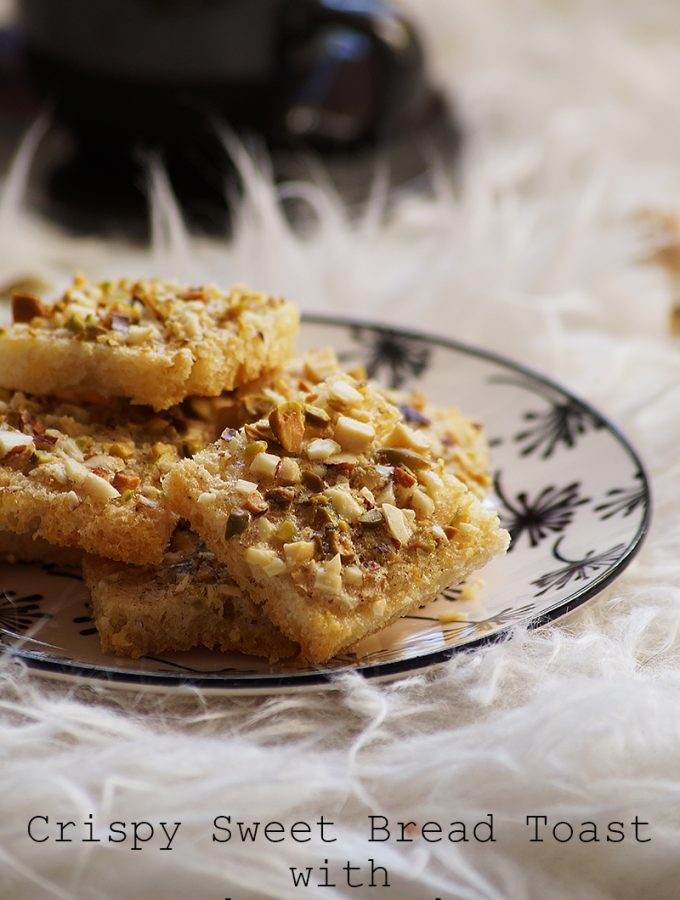 Crispy Sweet Bread Toast with Cardamom and Nuts {Video Recipe}