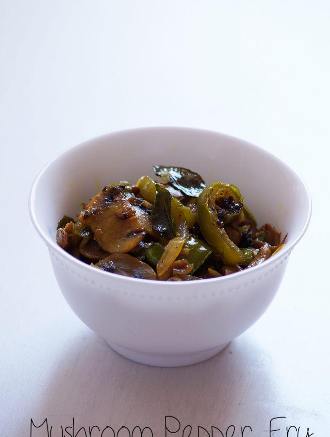 Spicy Mushroom Pepper Fry Recipe
