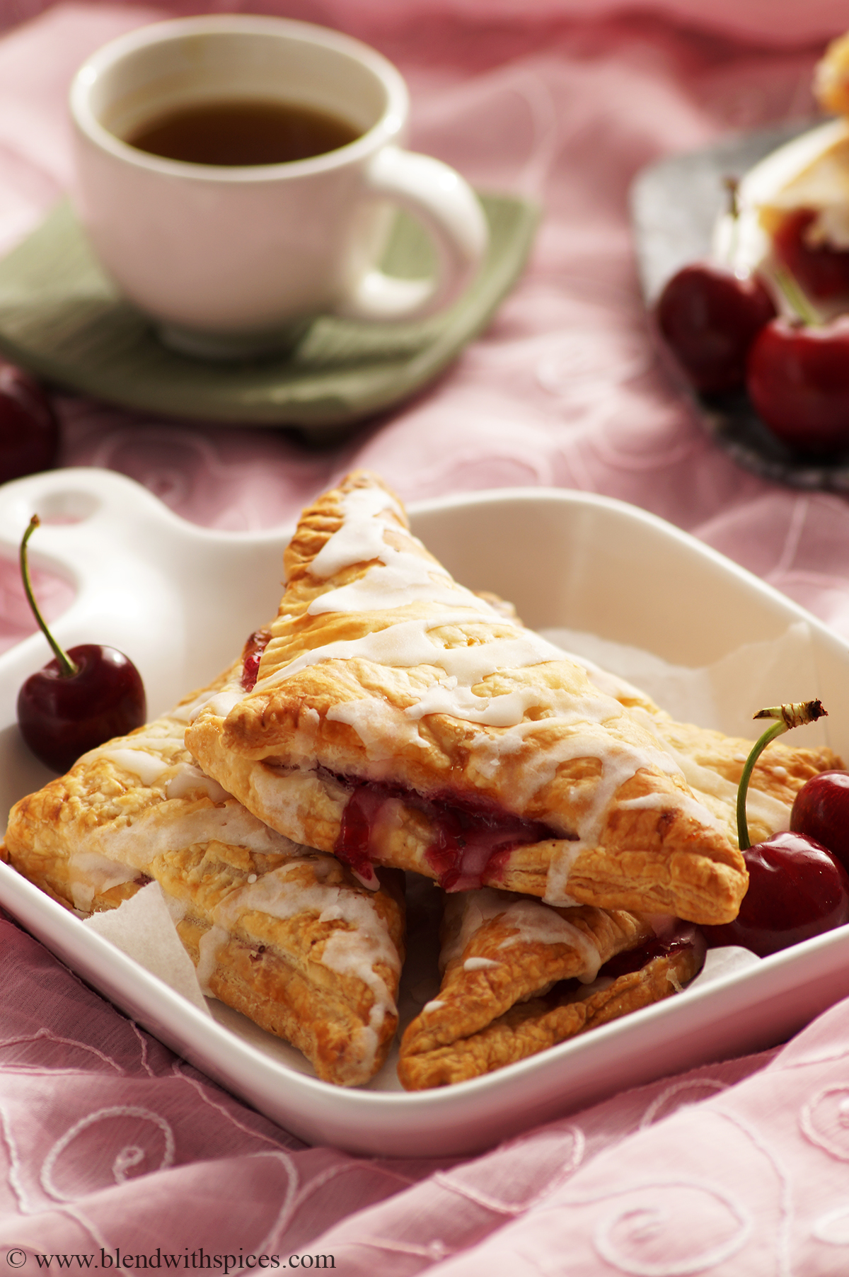 Easy Cherry Turnovers Recipe with Puff Pastry